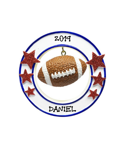 Personalized Ornament: Football