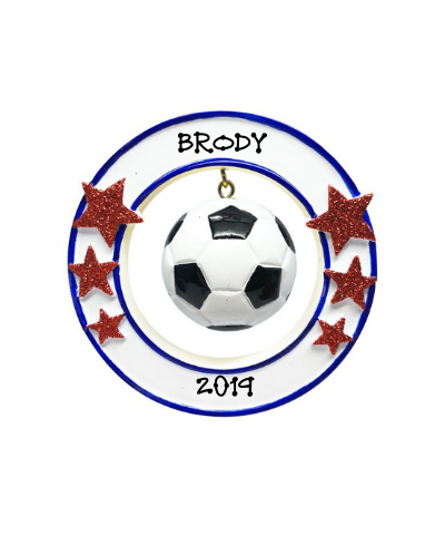 Personalized Ornament: Soccer Ball