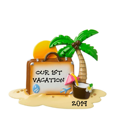 Personalized Ornament: Beach Vacation
