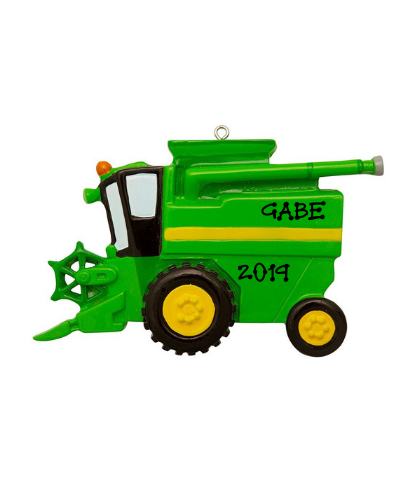 Personalized Ornament: Farm Combine