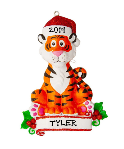 Personalized Ornament: Tiger with Banner