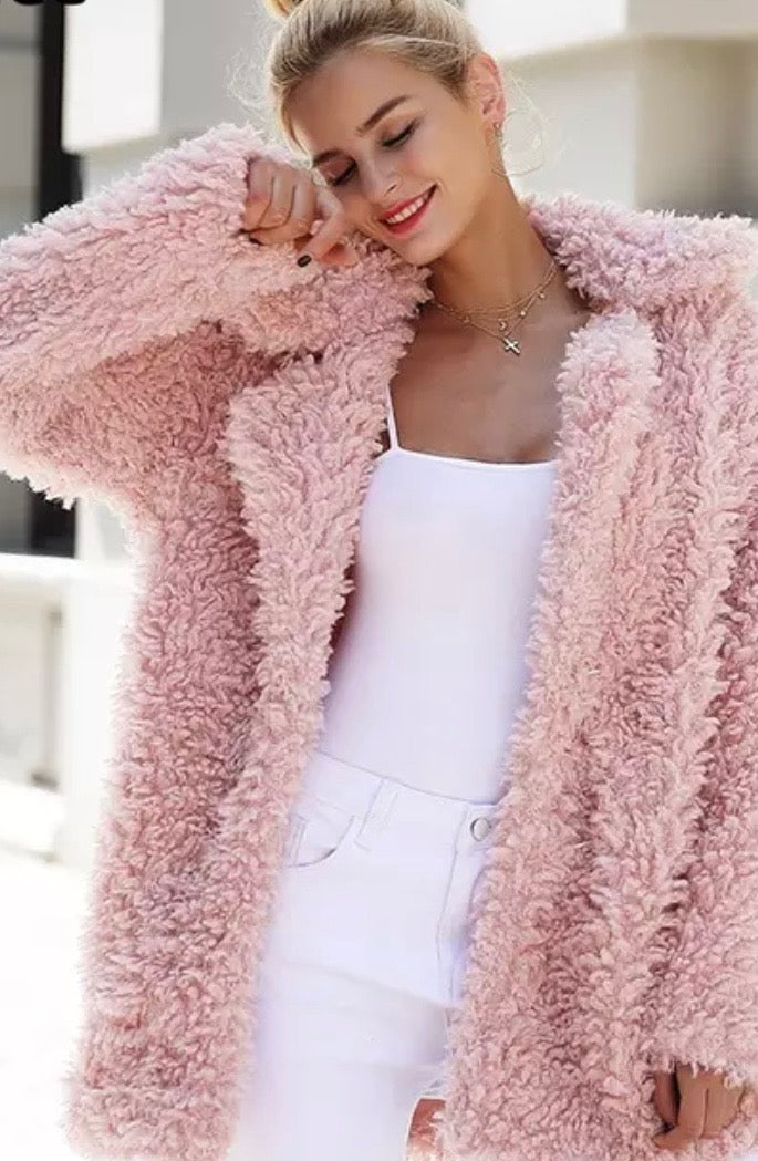 Autumn 2019 Collection Faux Teddy Bear Jacket - PollyB International
