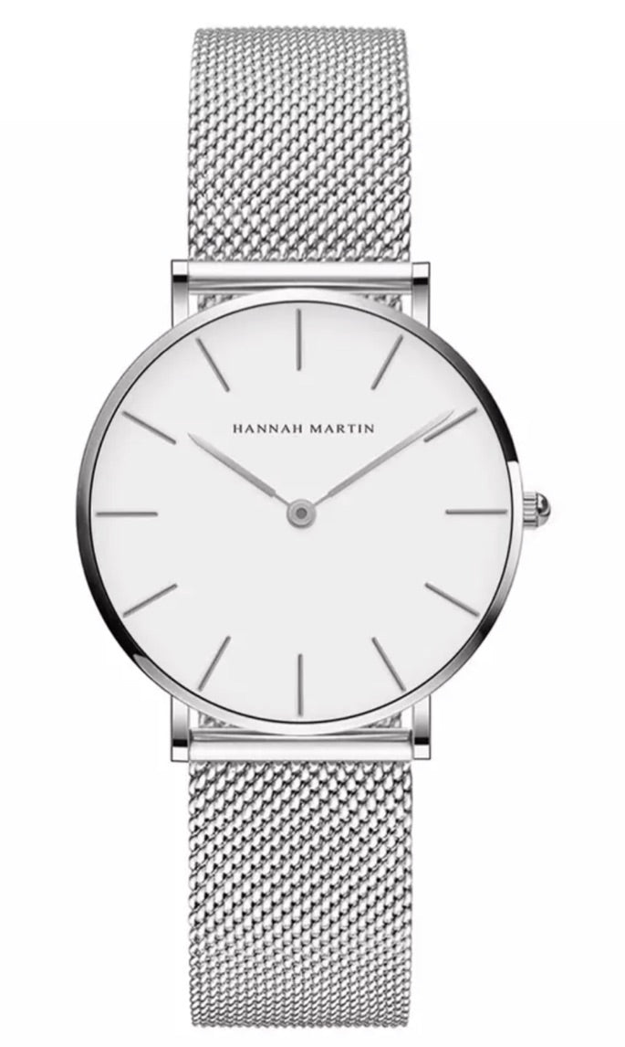 Hannan Martin Classic Unisex Quartz Stainless Steel Watch - PollyB International