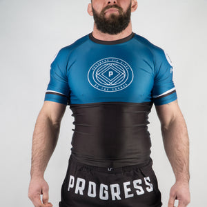 Ranked Rash Guard - Blue