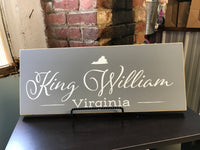 Grey King William Sign
