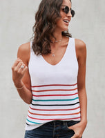 Multi Stripe Tank Sweater (More Colors Available)