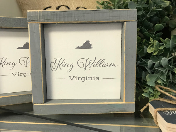 Small King William Sign With Grey Boarder