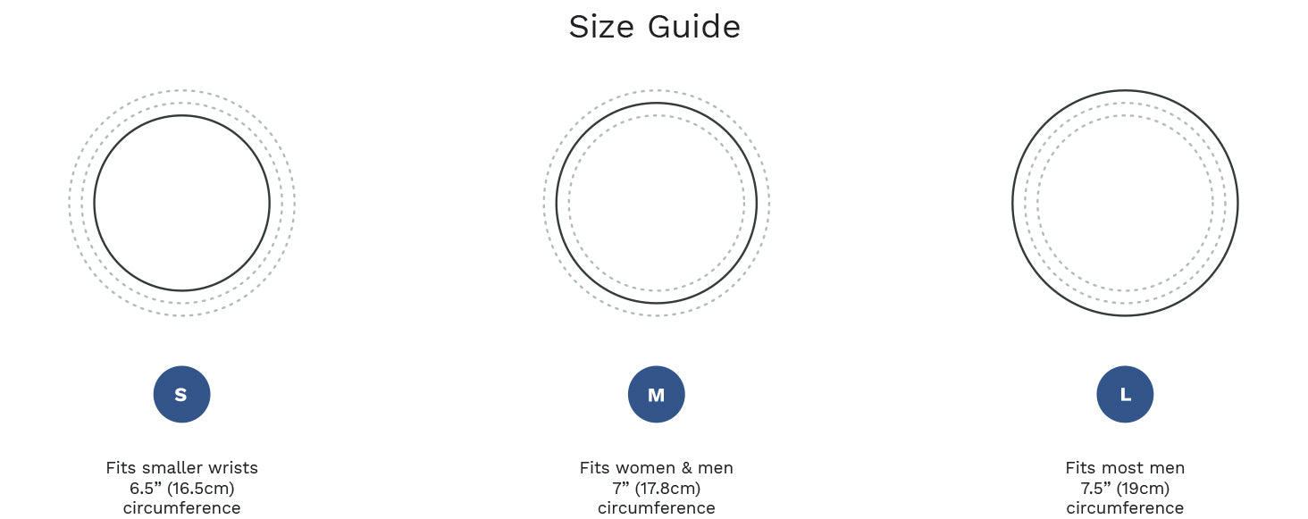 Our bracelet size guide