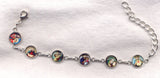 Colour Pictures Small Silver Chain Bracelet BR028