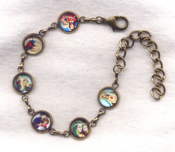 Colour Pictures Small Bronze Chain Bracelet BR029