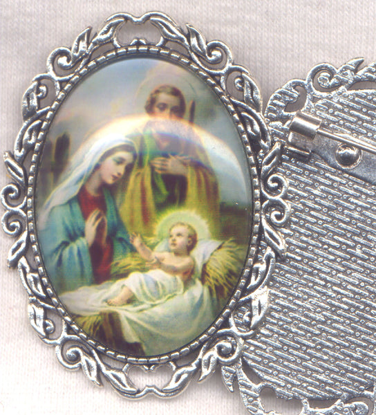 Christmas Nativity Brooch each BRCH02