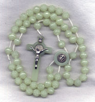 St Benedict Medal Glow in the Dark Roses Cord Rosary CD06
