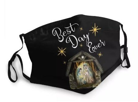 Nativity Best Day Ever Washable Face Mask MK24