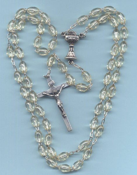 First Communion Rosary Econo Crystal Acrylic Beads FC02