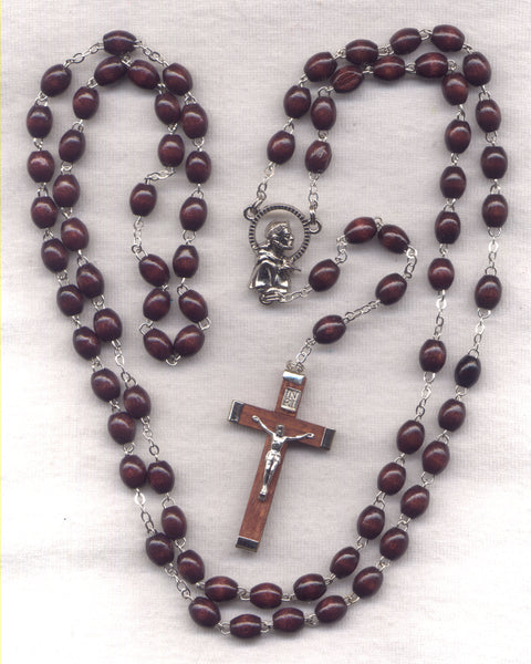7 Joys of Mary Franciscan Crown Brown Novena Beads  FR03