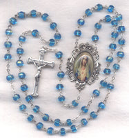 Vintage Style Immaculate Heart of Mary Fancy Double Capped FanC05