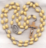 Our Lady of Fatima Rosary Creamy Toffee Bead Rosary GR06
