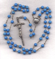 Sacred Heart of Jesus Rosary Imitation Turquoise Beads  GR06