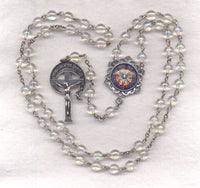 Holy Spirit Confirmation Rosary AB Crystal Beads GR09