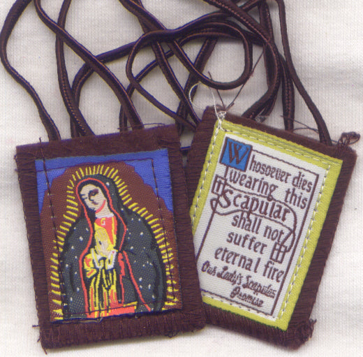 Our Lady of Guadalupe Image Brown Scapular each