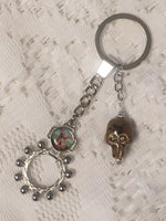 St Michael the Archangel Metal Pocket Rosary Keychain MRP17