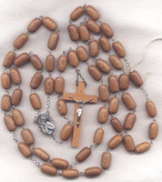 Mother of Mercy Rosary Rosewood Bead Habit Size Praying Madonna LG04