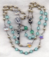 Star of the Sea Stella Maris Message Rosary Pearls M03