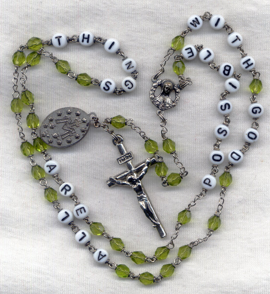 All Things Are Possible With God Message Rosary M07