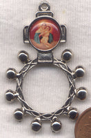 Madonna and Child Metal Pocket Rosary MRP03
