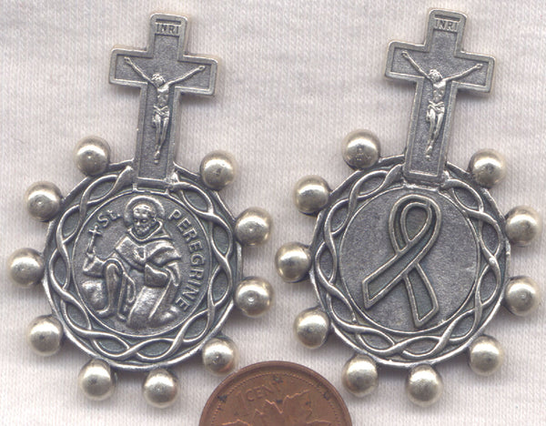 St Peregrine Intercessor of Cancer Patients Metal Pocket Rosary MRP14