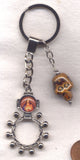 Sacred Heart of Jesus Metal Pocket Rosary Keychain MRP16