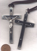 Black Inlay Crucifix Traditional Bon morte crucifix cord necklace NCL06