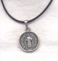 Small St Benedict Medal cord necklace NCK23