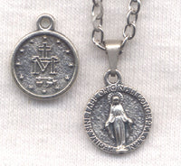 Round Miraculous Medal Chain Necklace NCK32