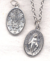 Oval Miraculous Medal Chain Necklace NCK33