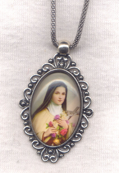 St Theresa of Lisieux the Little Flower Pendant Chain Necklace NCK45