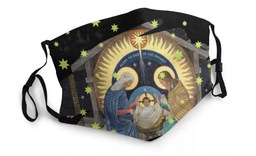The Birth of Jesus Washable Face Mask MK25