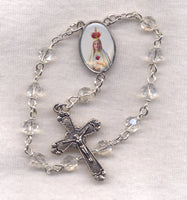Our Lady of Fatima One Decade Pocket Rosary Pilgrim Virgin P01
