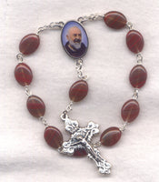 St Padre Pio One Decade Pocket Rosary PKT08
