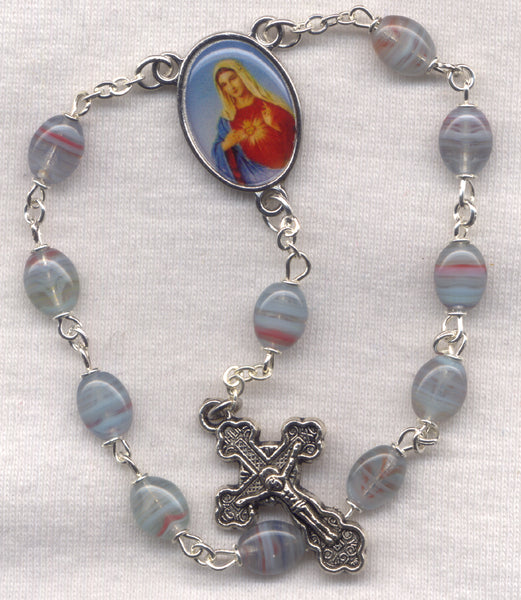 Immaculate Heart of the Blessed Virgin Mary One Decade Pocket Rosary PKT09