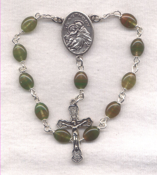 St Anthony of Padua miracle worker One Decade Pocket Rosary PKT16