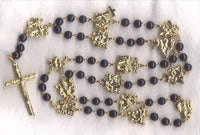 Stations of the Cross Chaplet dark brown bone beads STN02
