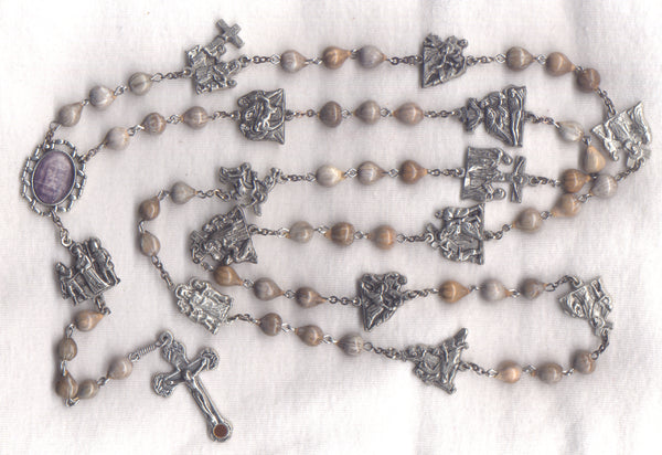Stations of the Cross Chaplet Job's Tears beads STN06