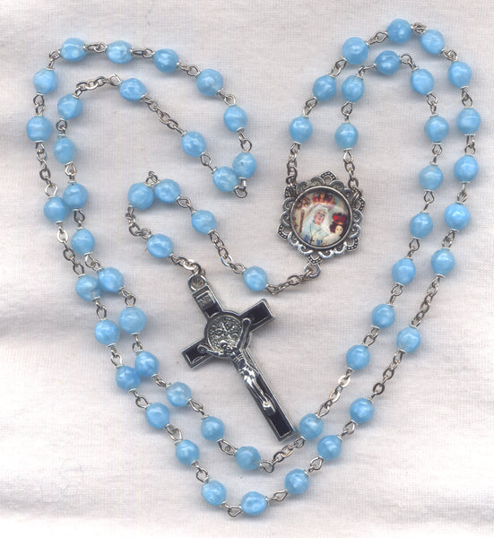 Our Lady of Good Success Rosary St Benedict Medal Crucifix V07