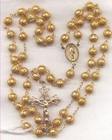 Our Lady of Grace Rosary Filigree Gold Metal Bead V30