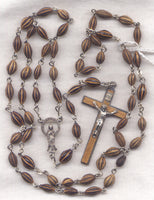 Lourdes Rosary Brown Buffaloberry Bead Immaculate Conception Rosary WD02