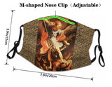 Red Crusader Cross Washable Face Mask MK15