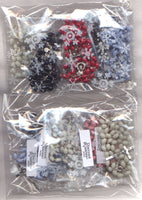 Bulk Buy Random Assorted Metal Link Rosaries 5 per package