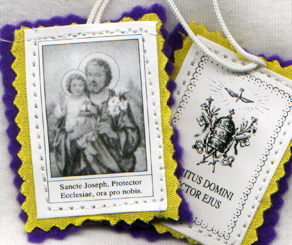 St Joseph Purple Scapular each