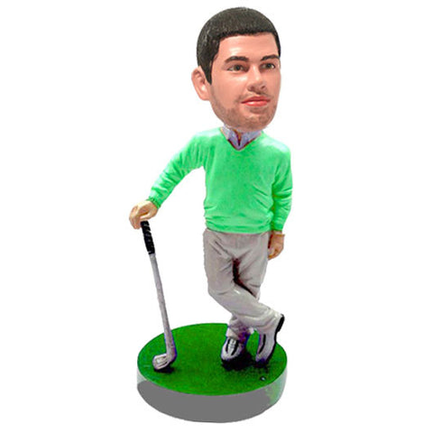 Custom made Golfer bobblehead.  Gift for golfers